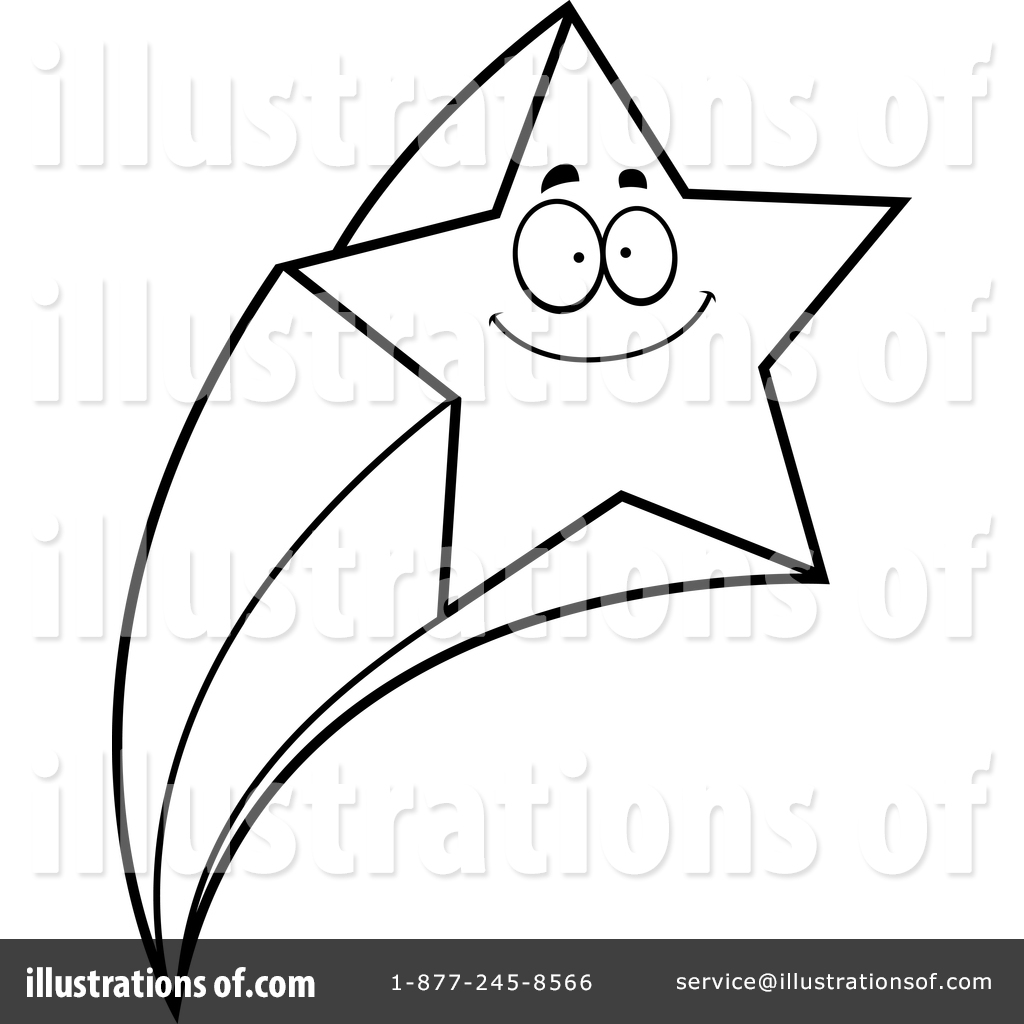 Shooting Star Clipart Black And White | Free download best ... for Shooting Star Clip Art Black And White  303mzq