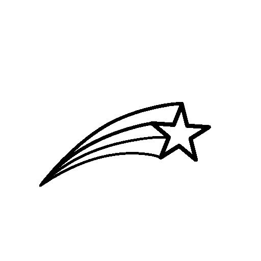 512x512 Shooting Star Outline