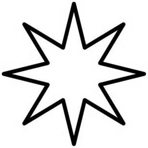500x500 Black And White Star Clip Art