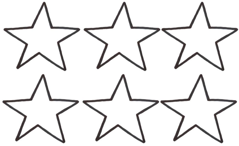 979x597 Stars Line Cliparts