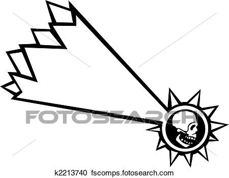 450x351 Clipart Of Shooting Star Skull