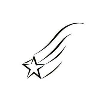 341x341 Drawn Shooting Star Black And White