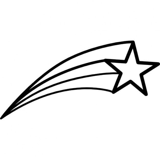 626x626 Best Shooting Star Outline