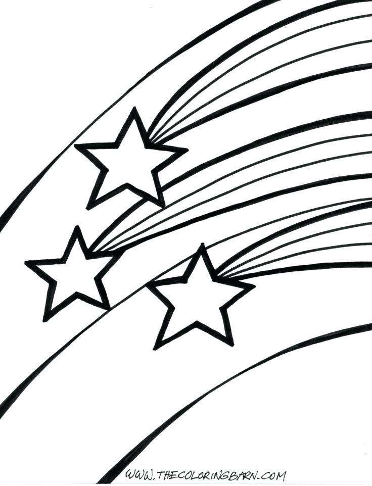 736x962 Shooting Star Coloring Pages Murderthestout