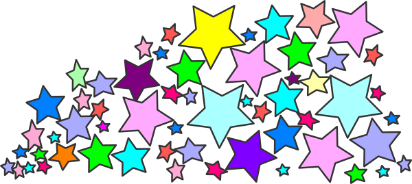 600x269 Free Colorful Stars Clipart Image
