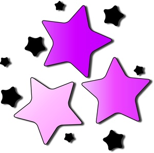 300x298 Pink Star Cluster Clip Art Cliparts