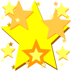 300x300 Shooting Star Clipart Yellow
