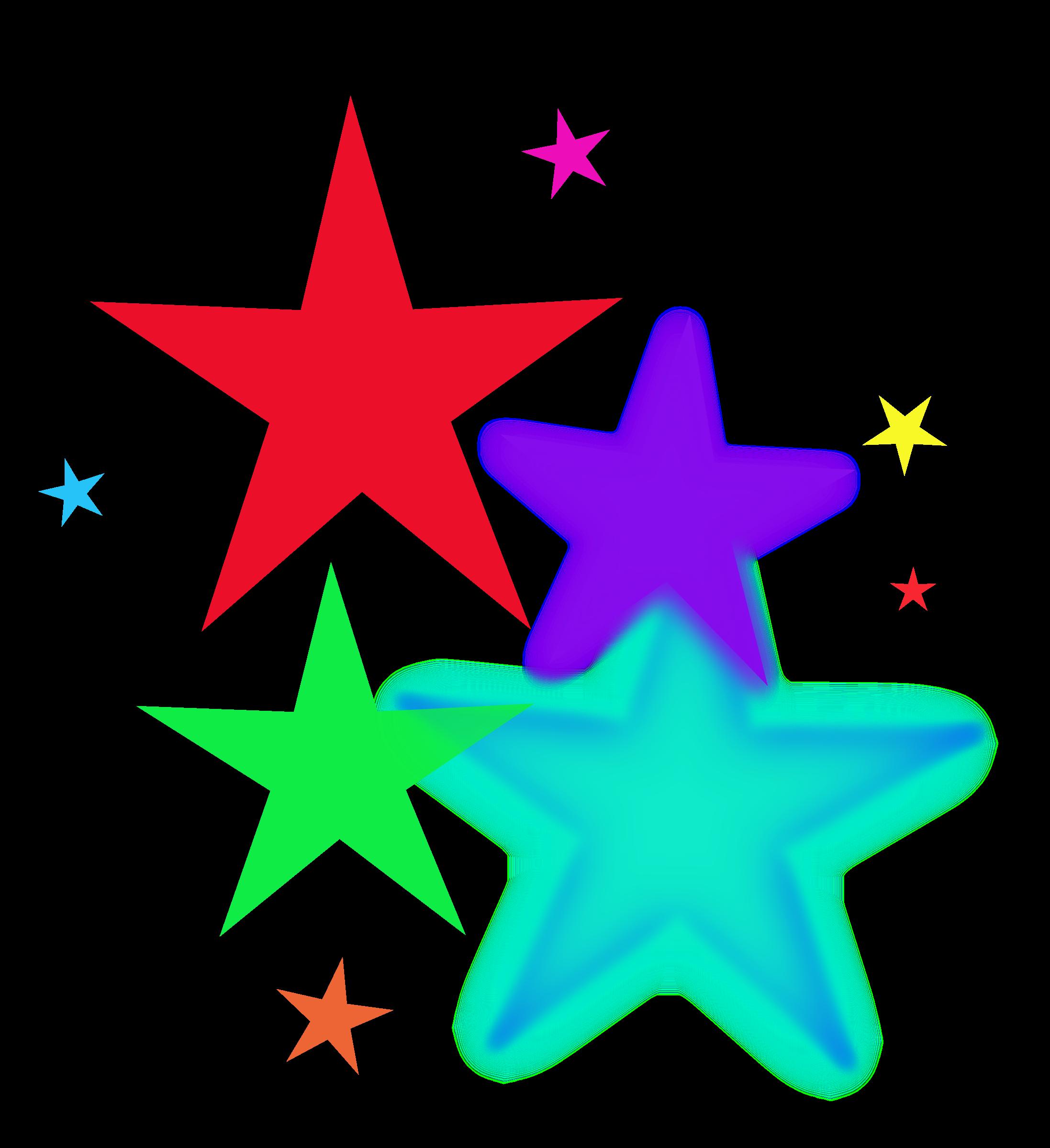 2194x2400 Shooting Stars Clip Art Borders