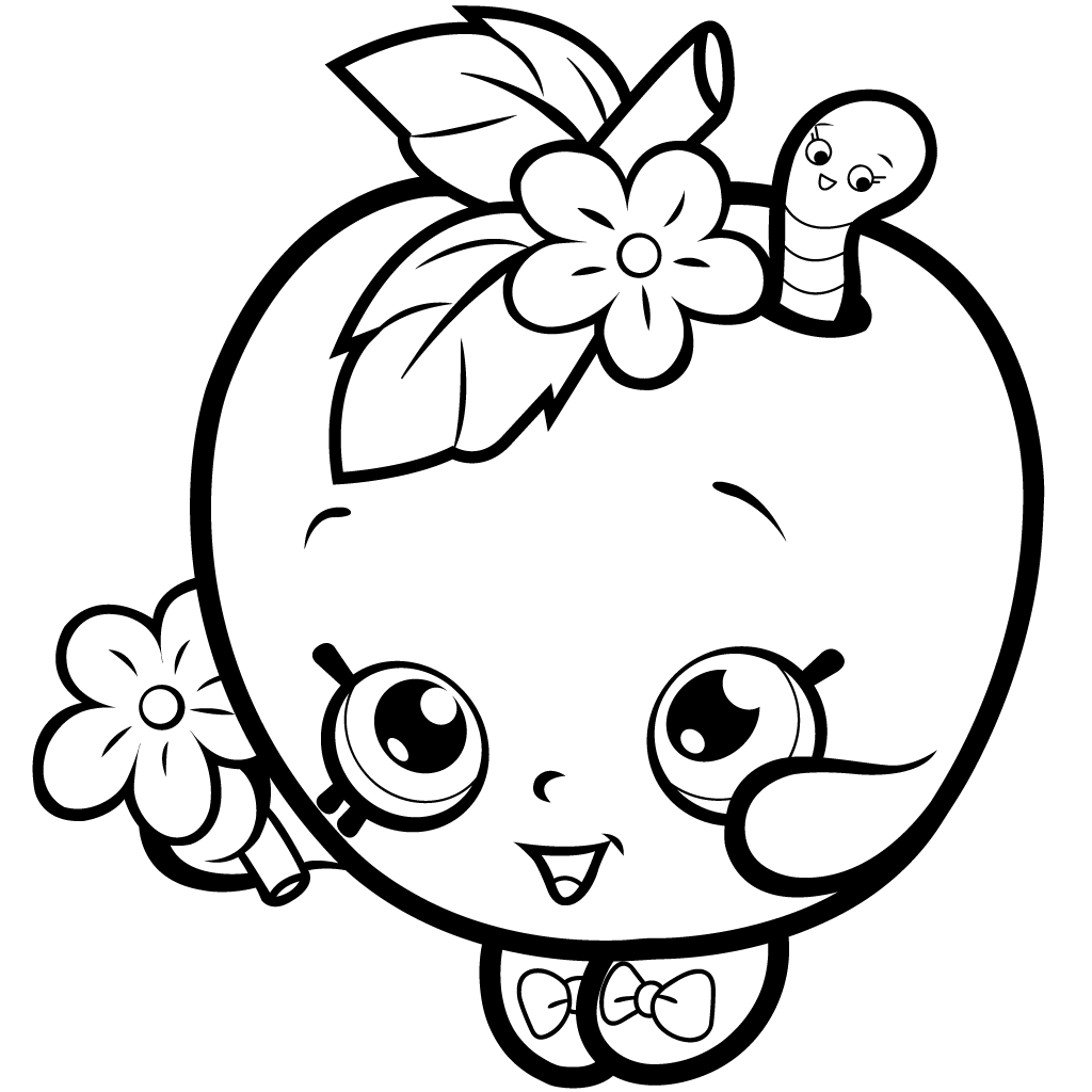 1024x1024 Fruit Apple Blossom Coloring Page