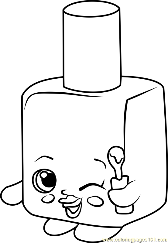 553x800 Polly Polish Shopkins Coloring Page