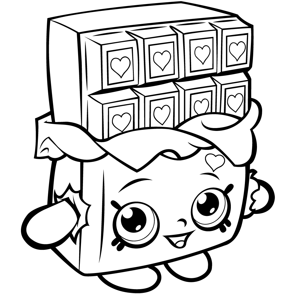 1024x1024 Shopkins Coloring Page Chocolate Cheeky