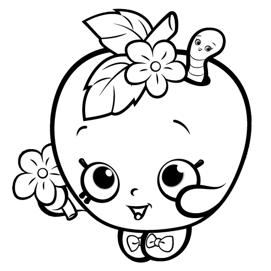 538x538 Shopkins Coloring Pages For Girls