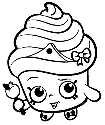 538x538 Shopkins Coloring Pages For Girls. 418x500 Shopkins Cupcake Black  White Queen