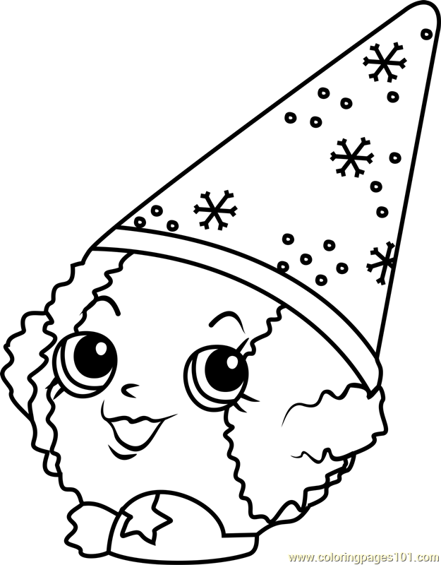 625x800 Snow Crush Shopkins Coloring Page