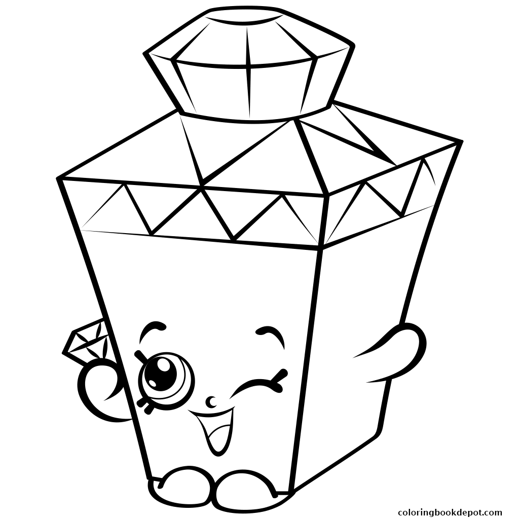 1024x1024 Limited Edition Gemma Gem To Colour Shopkins Season 4 Coloring Pages