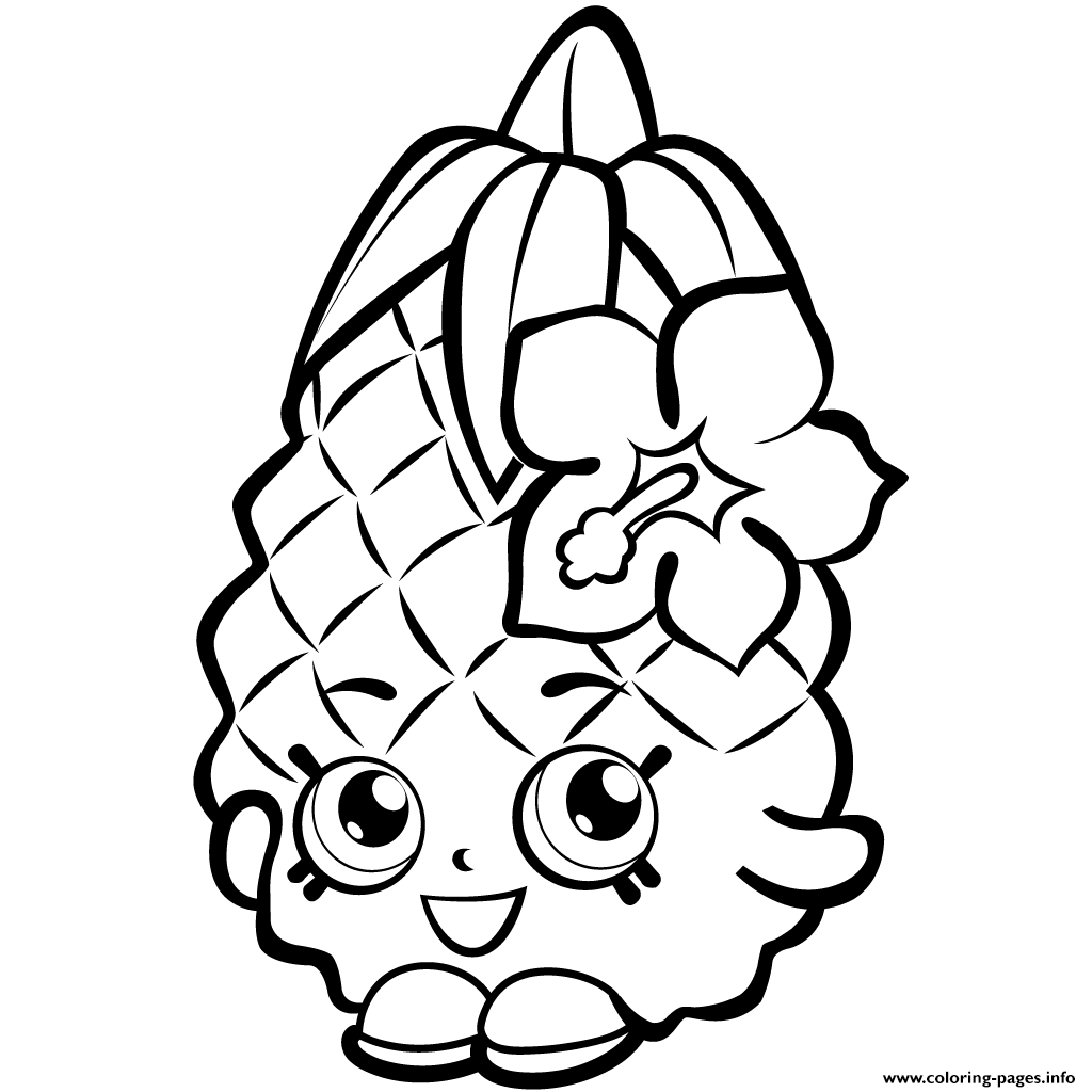 1024x1024 Print Fruit Pineapple Shopkins Season 1 Coloring Pages Shopkins