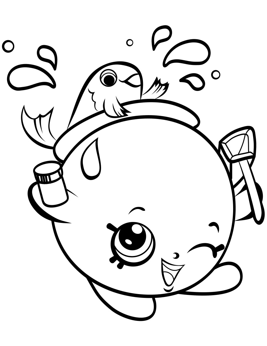 906x1172 Shopkins Cute Girl Coloring Page