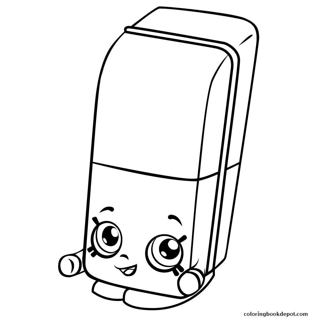 1024x1024 Free Erica Eraser Shopkins Season 3 Coloring Pages