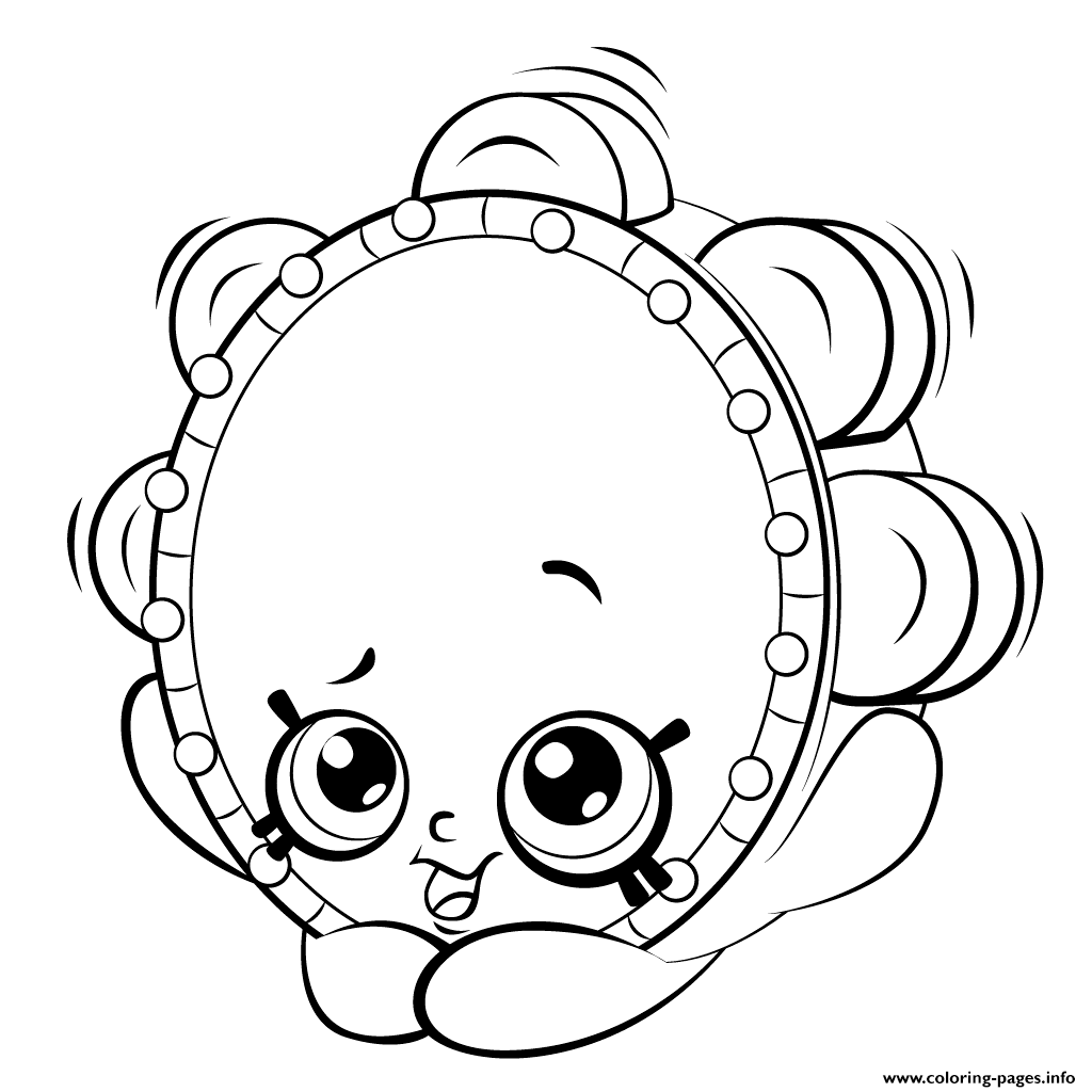 1024x1024 Print Tambourine From Shopkins Shopkins Season 5 Coloring Pages