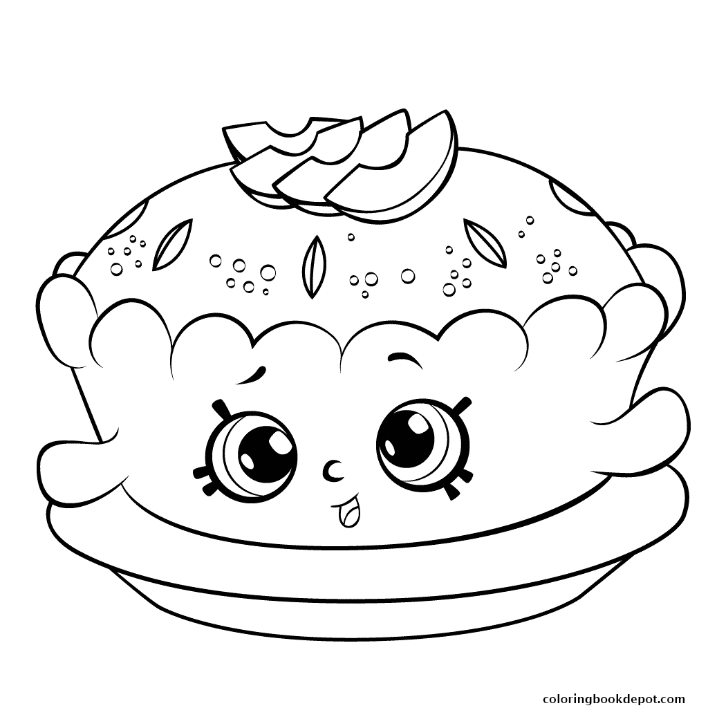 1024x1024 Shopkins Season 6 Apple Pie Coloring Pages