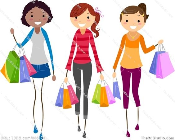 564x453 Women Shopping Clip Art Girls Shopping Stock Photo Stock Image
