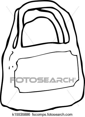 342x470 Clip Art Of Cartoon Plastic Shopping Bag K15535886