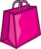 142x170 Clip Art Of Classic Pink Shopping Bag K15246597
