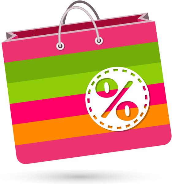 561x600 Colorful Shopping Bag Free Vector In Adobe Illustrator Ai ( Ai
