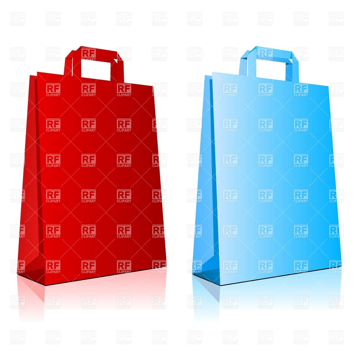 1200x1200 Empty Paper Shopping Bags Royalty Free Vector Clip Art Image