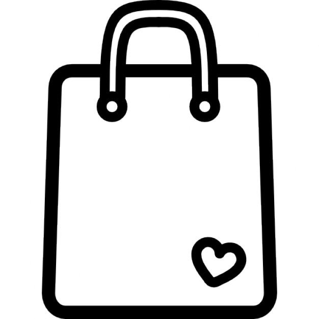 626x626 Bag Clipart Outline