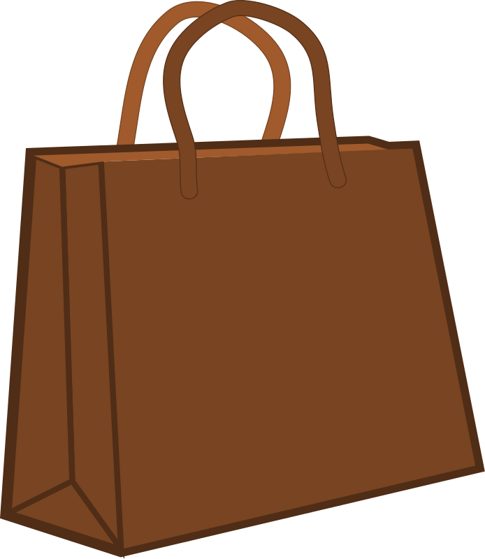 694x800 You Can Use This Brown Shopping Bag Clip Art On Your Personal
