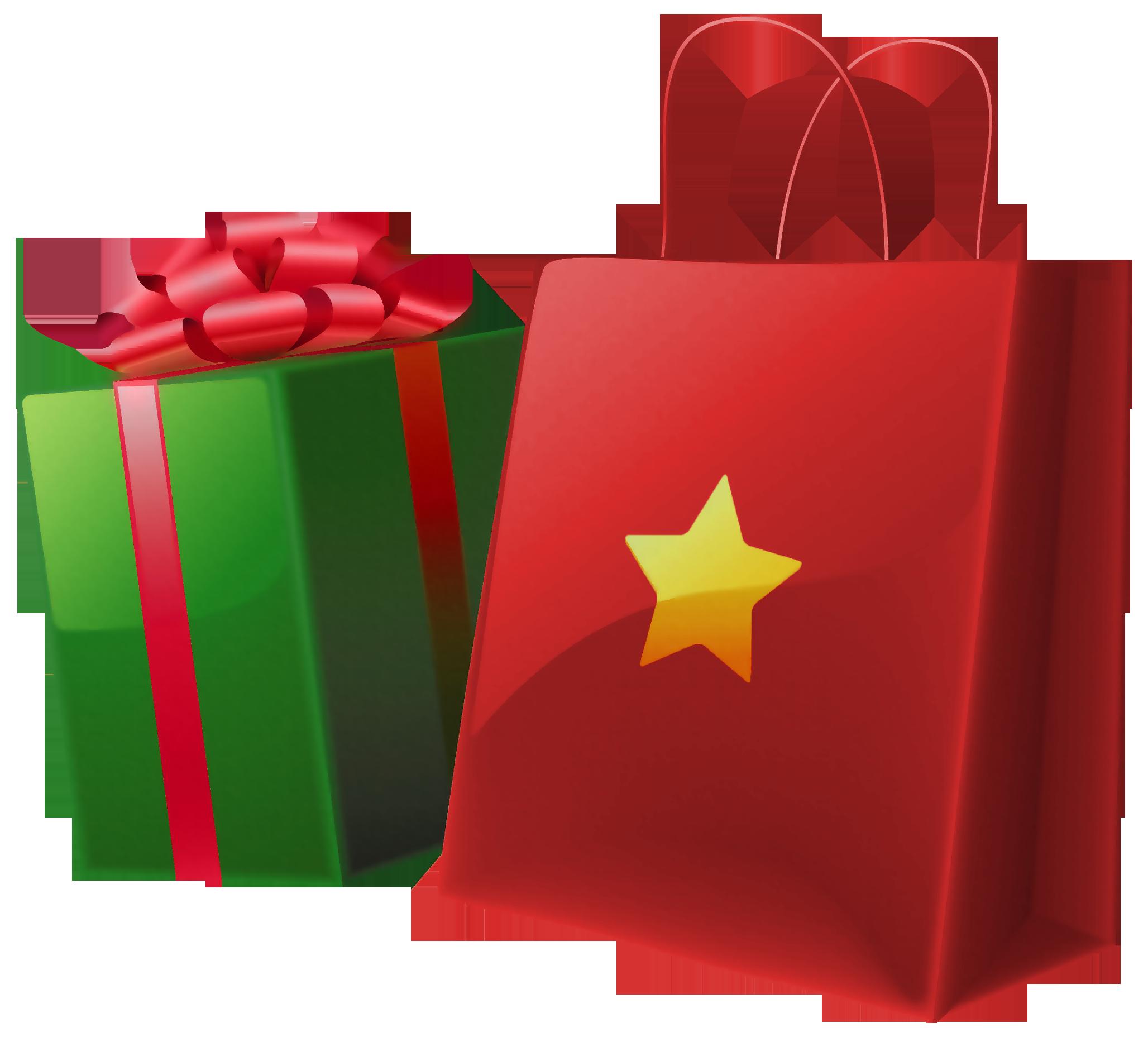 2056x1857 Bag Clipart Christmas Shopping
