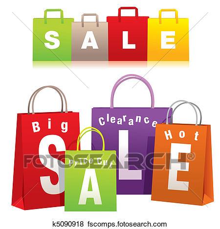450x470 Clip Art Of Shopping Bags K5090918