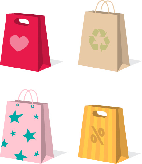 462x532 A Variety Of Colorful Clip Art Bag Bags Free Vector 4vector