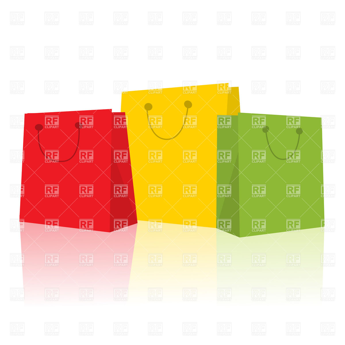 1200x1200 Three Smiling Shopping Bags Royalty Free Vector Clip Art Image