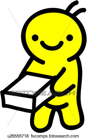 295x470 Clip Art Of Delivery Servic, People, Parcel, Holding, Shopping
