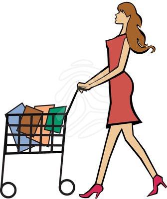 335x400 Clipart Shopping