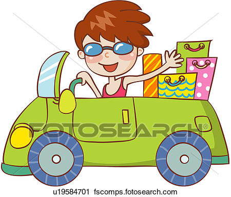 450x384 Clipart Of Shopping Bag, Bag, Driving, 19 59years Old, Car