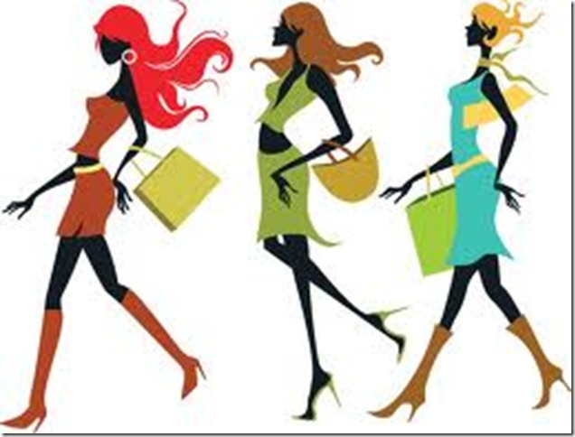 636x484 Shoppers Clipart