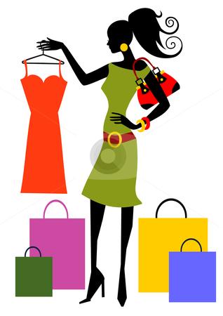 318x450 Women Shopping Clipart