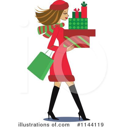400x420 Christmas Shopping Clipart