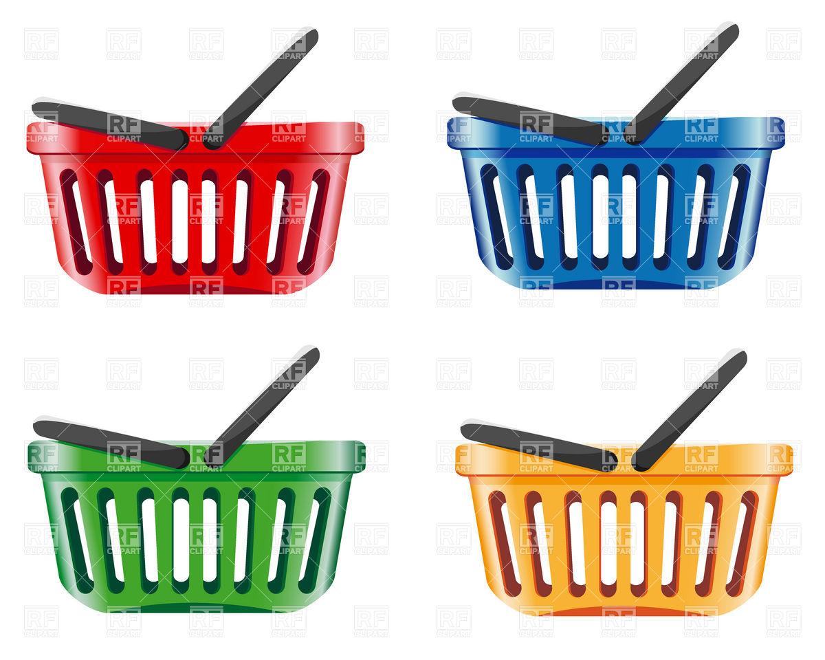 1200x960 Supermarket Plastic Shopping Basket Royalty Free Vector Clip Art