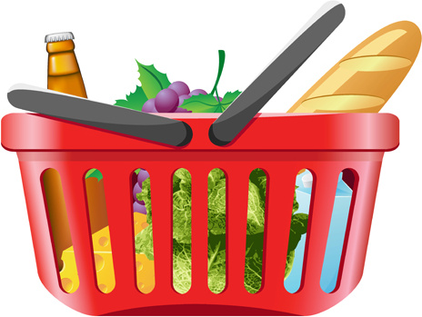 464x349 Supermarket Shopping Clipart Free Vector Download (4,684 Free