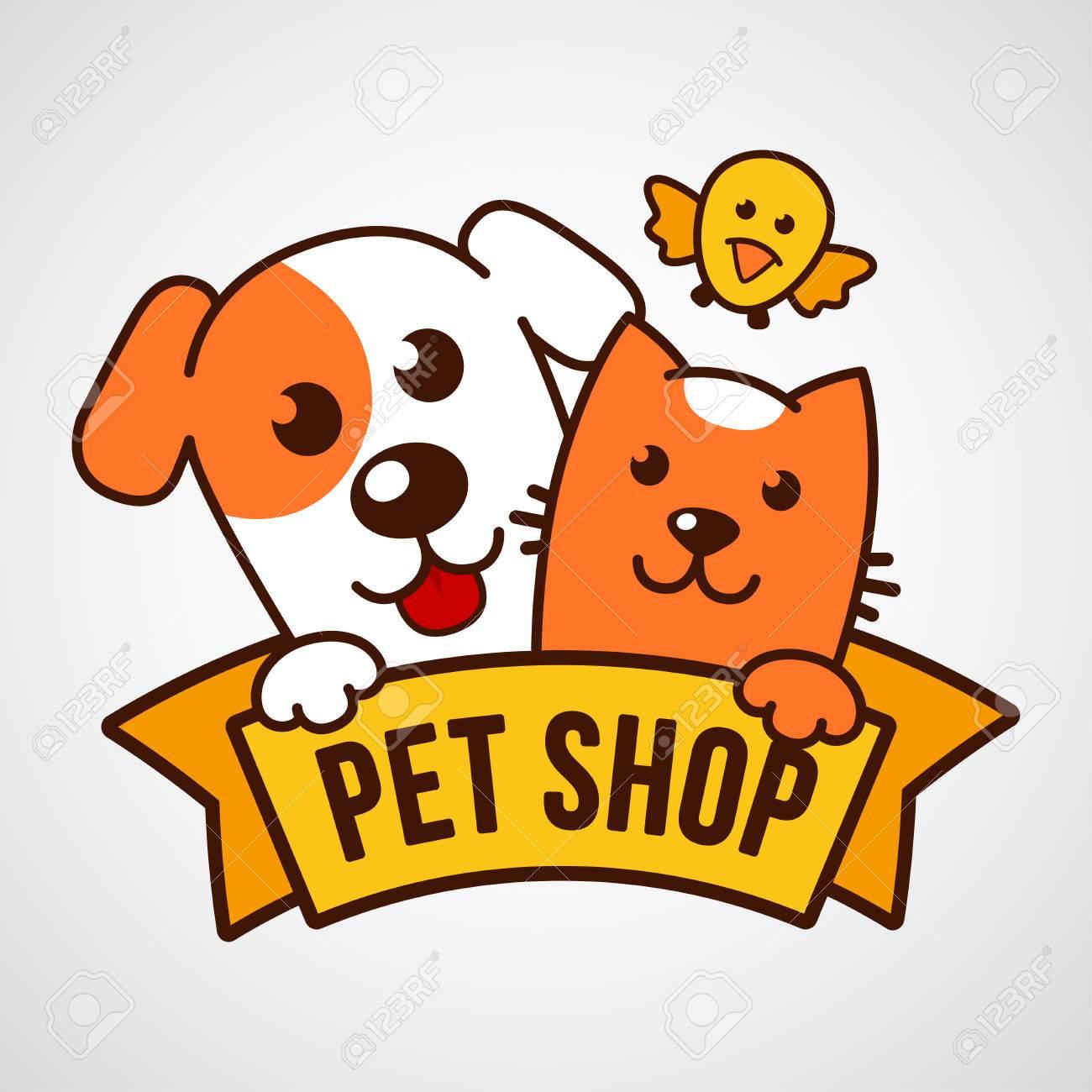 1300x1300 Vector Logo Design Template For Pet Shops, Veterinary Clinics