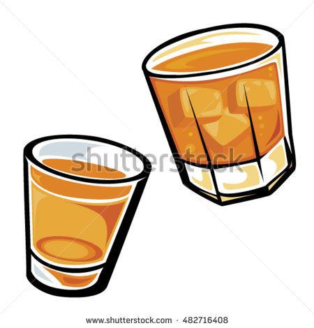 450x470 Shot Glass Clipart Whiskey Drinks Tumbler Shot Glass Stock Vector