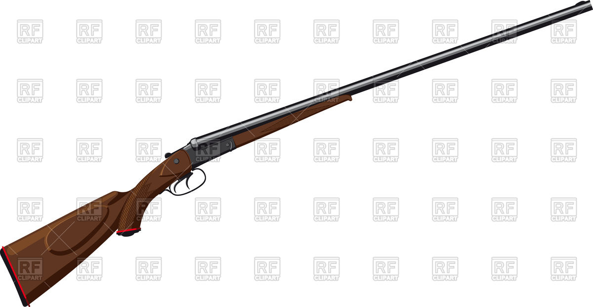 1200x621 Classic Double Barreled Shotgun Royalty Free Vector Clip Art Image