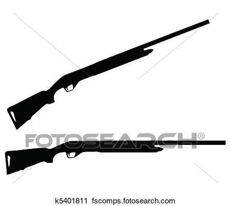 450x401 Clipart Of Weapons Silhouette Collection