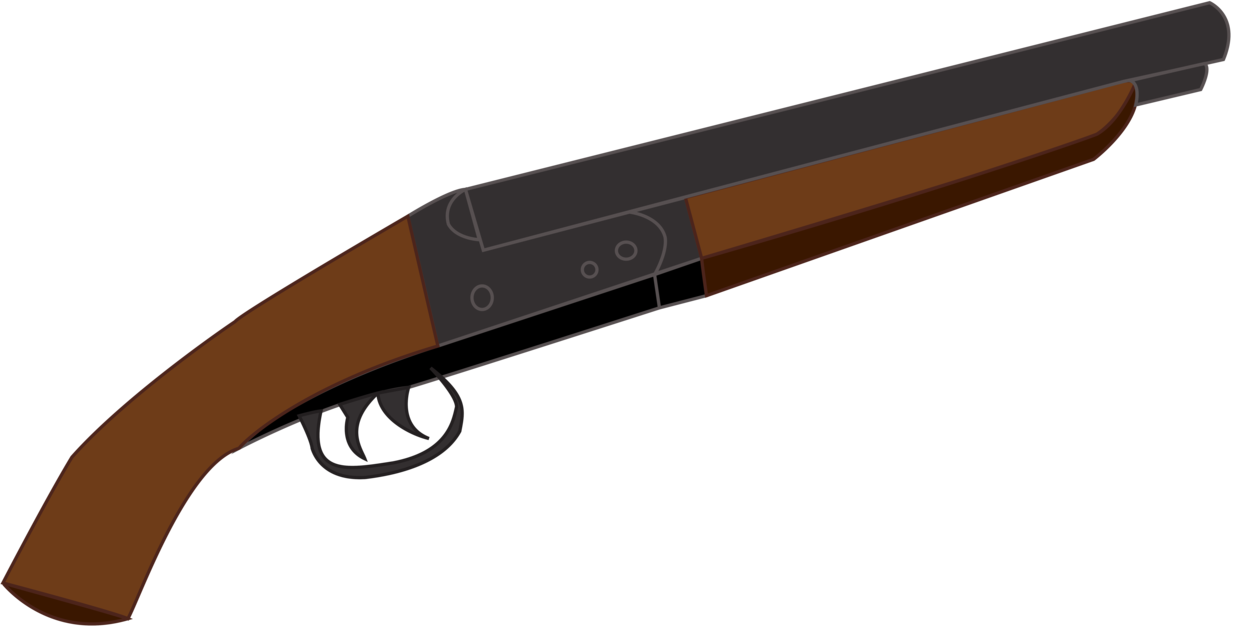 1244x642 Gun Shot Clipart Double Barrel Shotgun