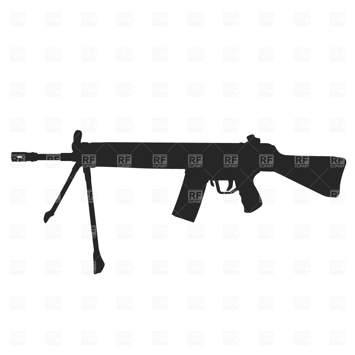 1200x1200 Light Machine Gun Royalty Free Vector Clip Art Image