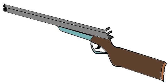 584x293 Shotgun Clipart Clip